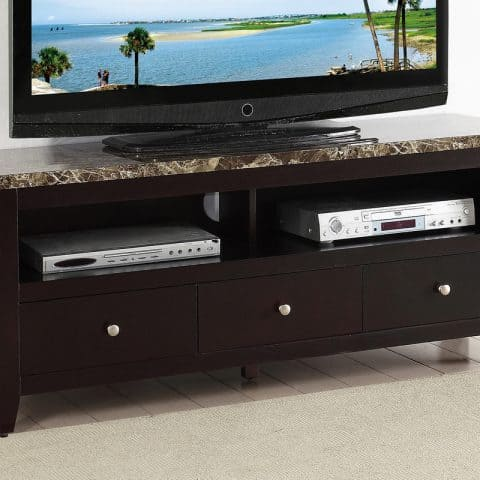 TV Stand Faux Marble Top
