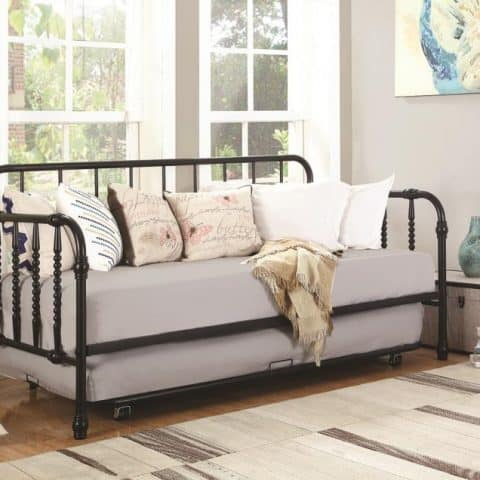 daybed daybeds trundle metal black