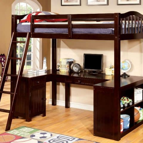 Twin Loft Bunk Bed With Desk