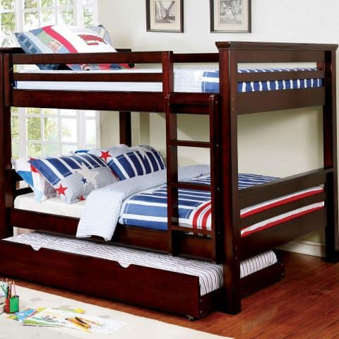 Dark Walnut Full Over Full Bunk Bed