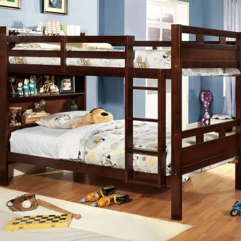 Twin Bunk Bed With Storage Shelves