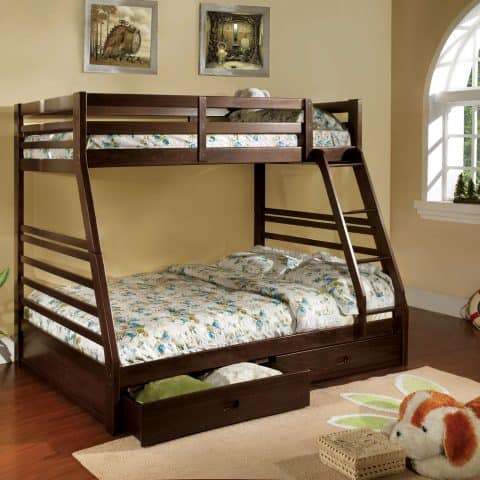 Twin Over Full Bunk Bed With 2 Drawers