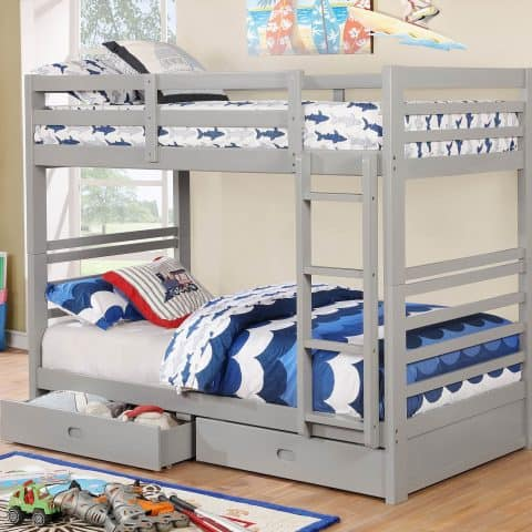 Twin Over Twin Bunk Bed/W 2 Drawers
