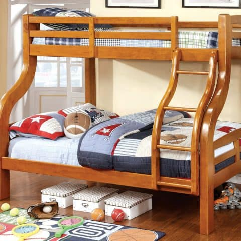 Oak Twin Over Full Bunk Bed