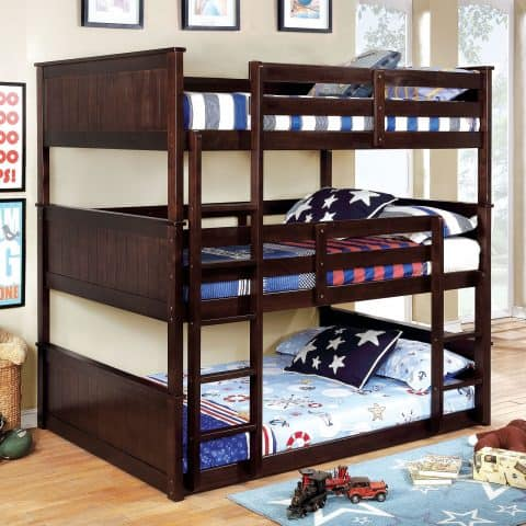 Full Triple Bunk Bed