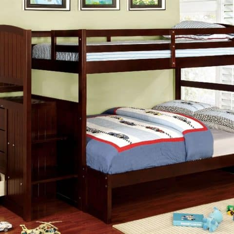 twin over full size bunk bed with stairs