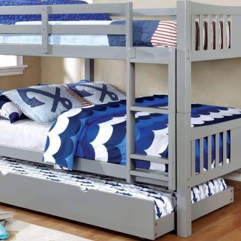 Grey Full Over Full Bunk Bed