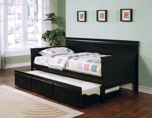 daybed daybeds trundle black