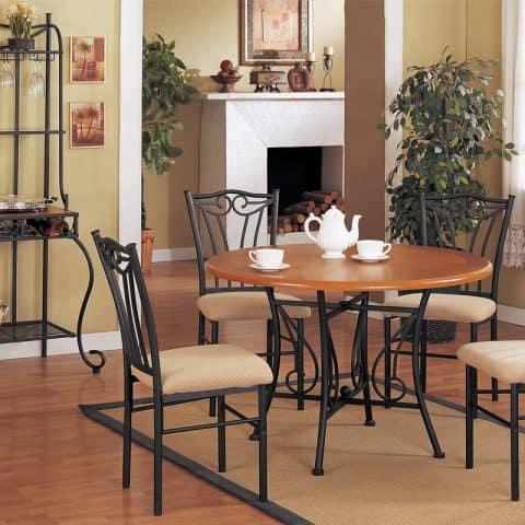 Round Oak Table Dinette Set