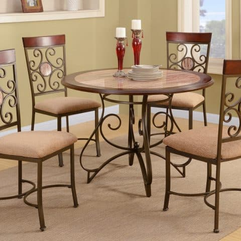Dinette Dining Round Table Chairs