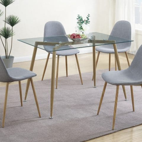 Dinette Table Set Petal Seats