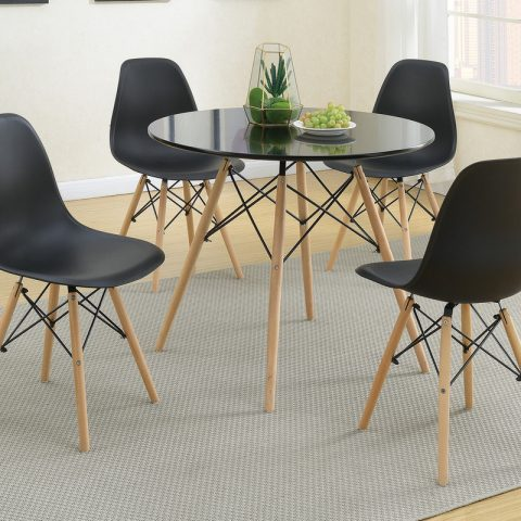 Round Shaped Glass Table Set Dinette
