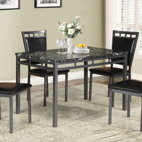 5-Piece Dinette Faux Marble Set