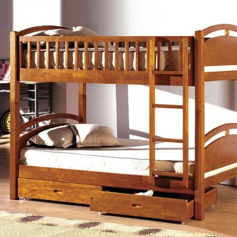 Twin Over Twin Bunk Bed With 2 Drawers