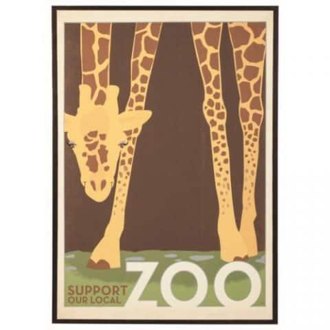 Wall Art Giraffe in a Zoo