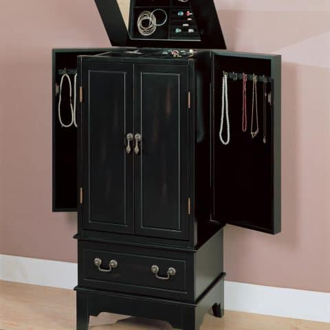 Jewelry Armoire Black