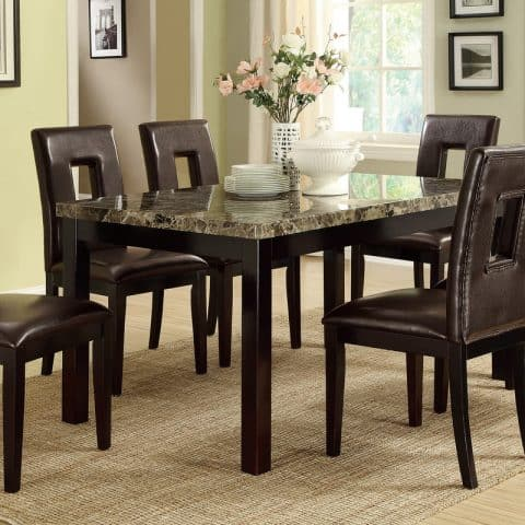 contemporary 7 PC dining table set