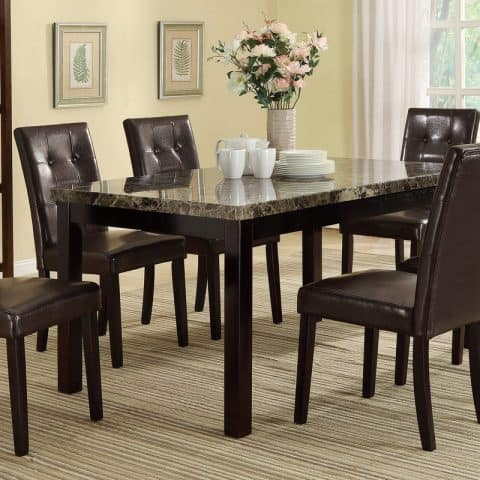 7 Piece Contemporary Dining Set
