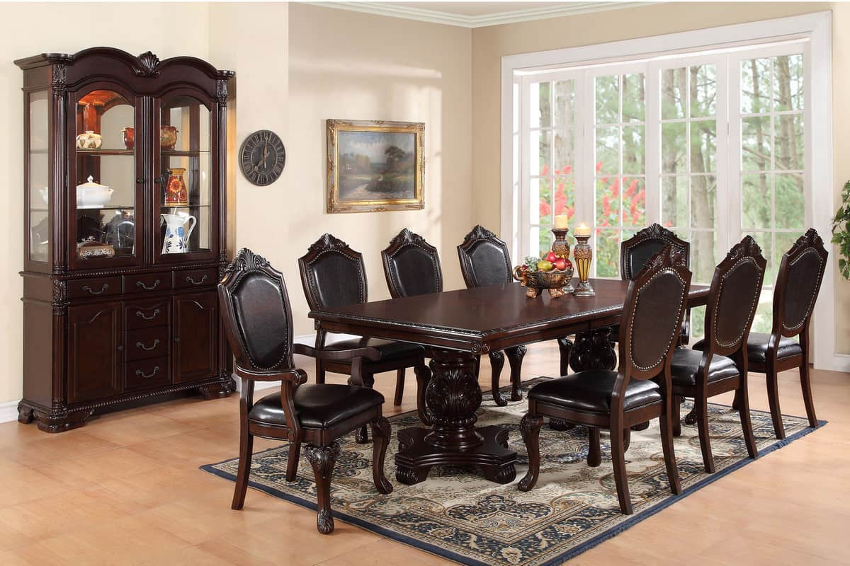 Picture of: Formal Dining Room Table Seating 8 Chairs Affordable Home Furniture