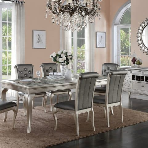 Silver Formal Dining Table Set