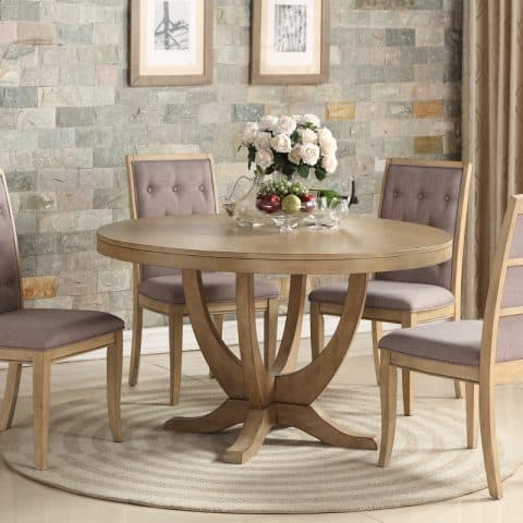 5-Piece Formal Round Dining Room Set