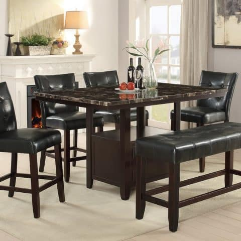 Counter Height Dining Table Rectangular Shape Set
