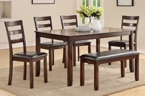 Wood Dining Table With Bench