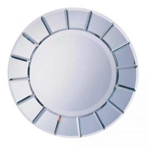 Wall Mirror Round Sun Shape Mirror
