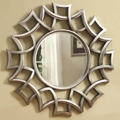 Starburst Wall Mirror Silver Finish