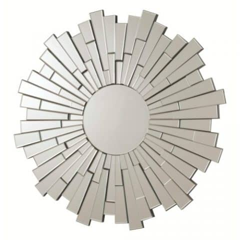 Wall Mirrors Contemporary Round Frame Less