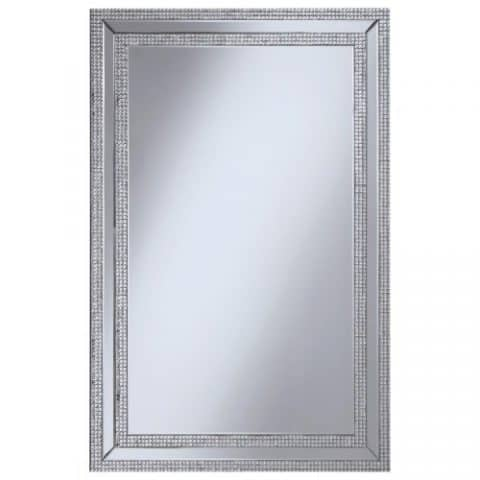 Wall Mirror With Jeweled Frame
