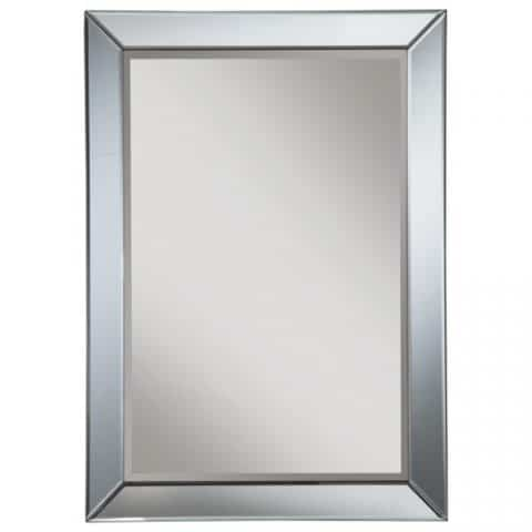 Wall Mirrors Contemporary Blue Accent Trim