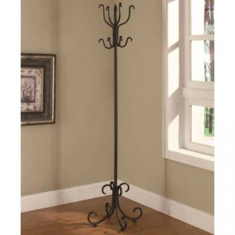 Coat Rack Black Metal