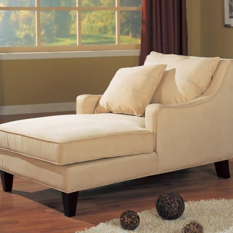 Microfiber Chaise Lounge Accent Seating