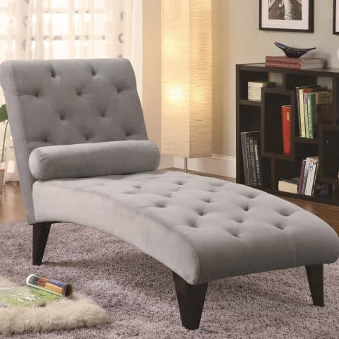 Chaise Lounge Velour Tufted Accent Seating