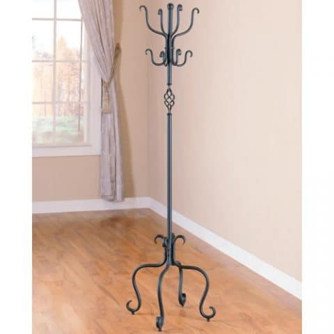 Sandy Black Metal Coat Rack