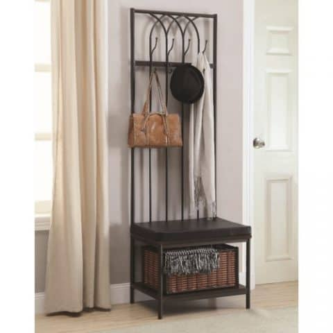 Hall Tree Coat Racks with Storage Bench