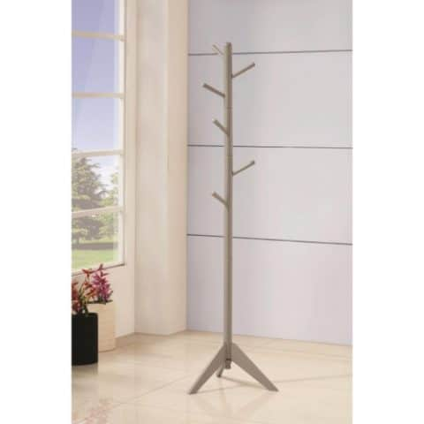 Grey Metal Contemporary Coat Rack