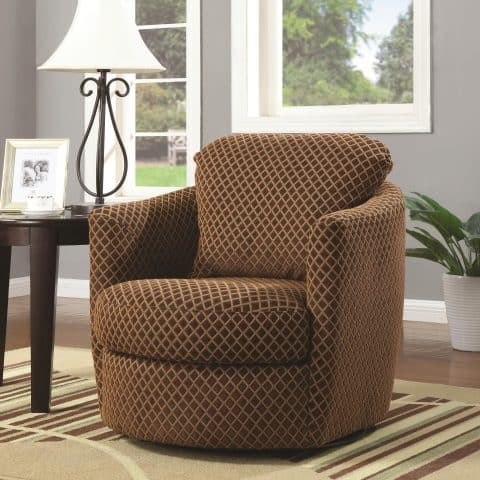 Accent Chair Swivel Upholstered
