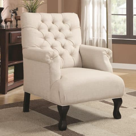 Accent Seating Traditional Button-Tufted Accent Chair