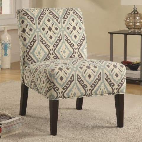 Pattern Accent Seating Chair Casual Style