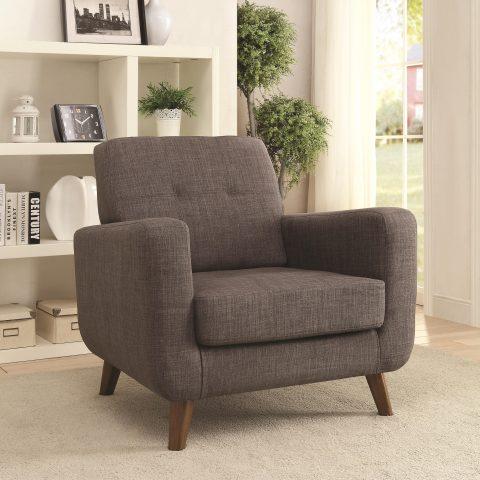 Mid Century Modern Accent Chair Grey Finish