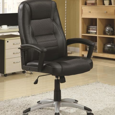 Executive Office Chair Black with Adjustable Seat Height